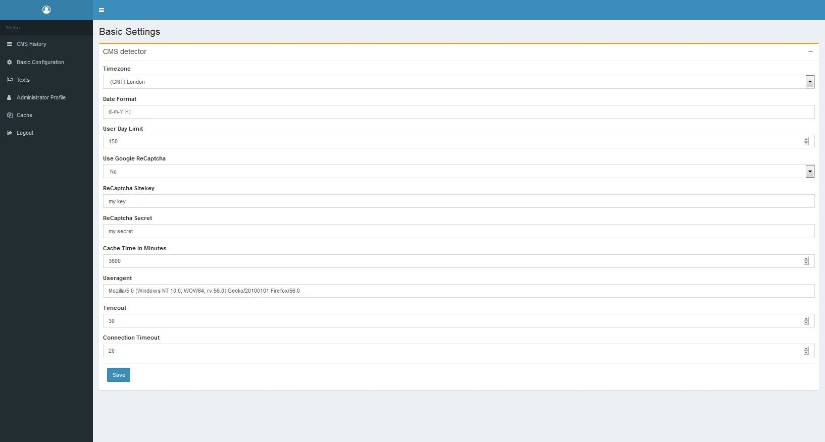 Simple CMS Detector Script Screenshot 7
