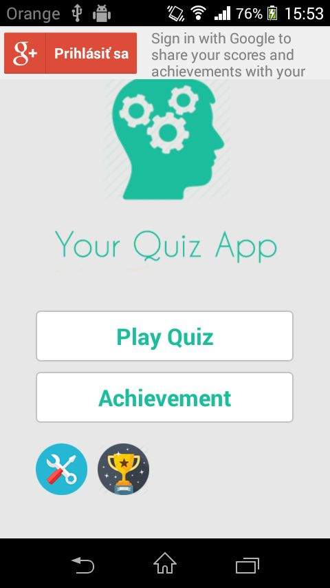 Your Quiz - Android App Source Code Screenshot 2