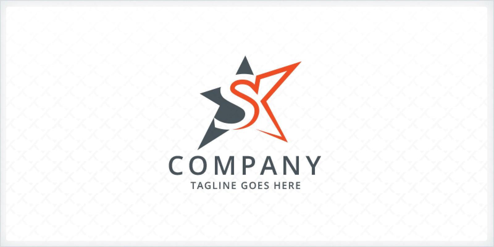 Letter S Star Logo Codester