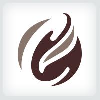 Letter C - Coffee Bean Logo