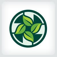 Leaves Cross - Medical Logo