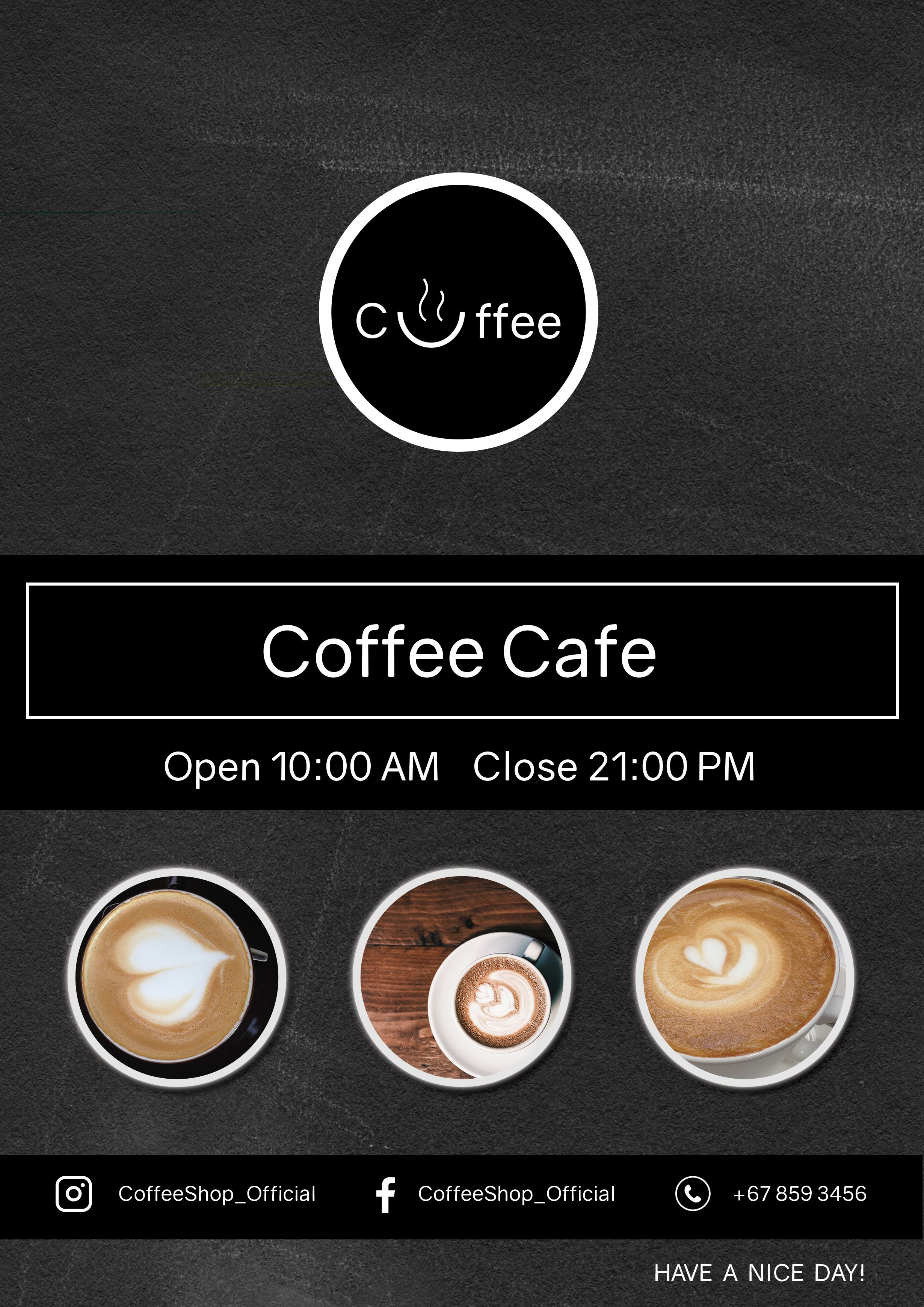 Coffee Menu Flyer Template Screenshot 2