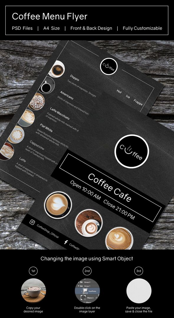Coffee Menu Flyer Template Screenshot 3