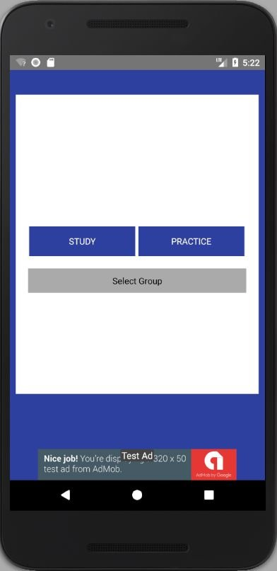 WordCard - Android template Screenshot 1