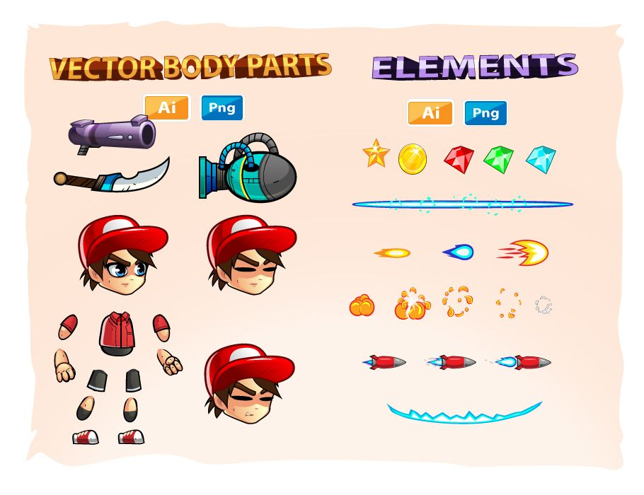 2D Game Character Sprites Screenshot 3