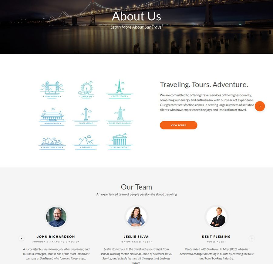 Travel – Agent And Tour Booking HTML5 Template Screenshot 2
