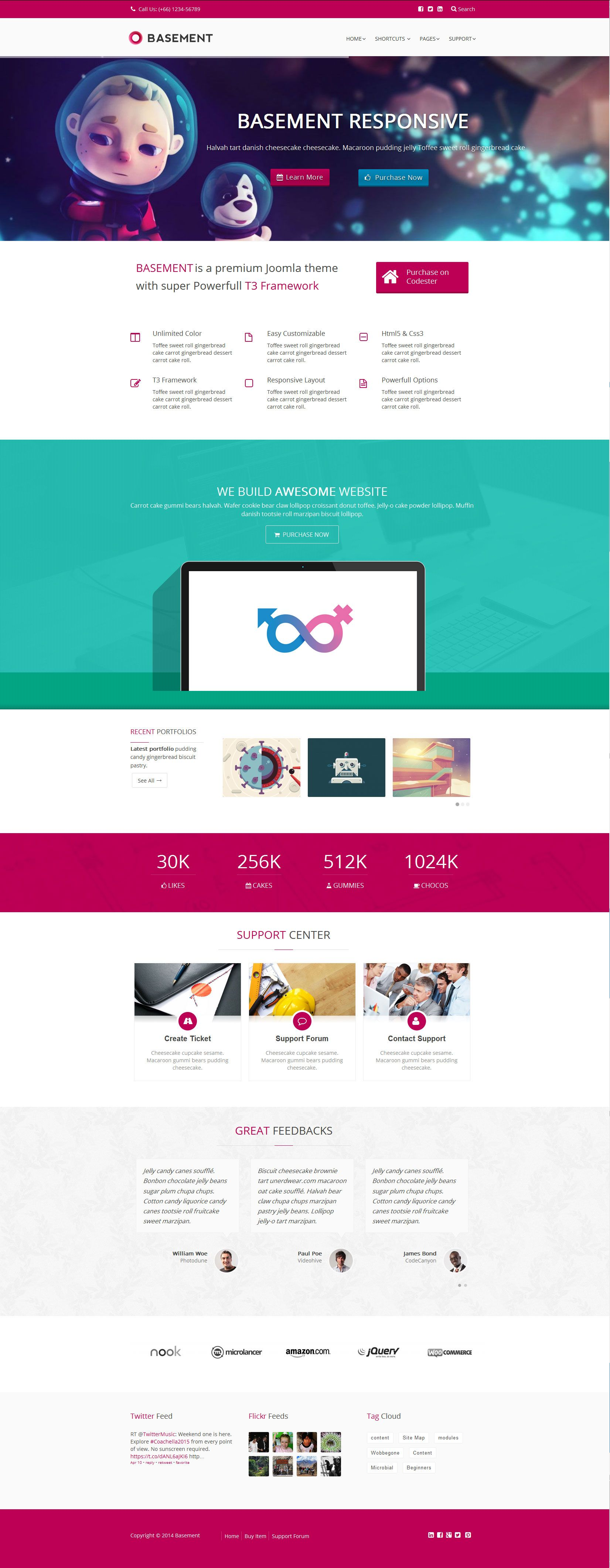 Basement - Responsive Joomla Template Screenshot 1