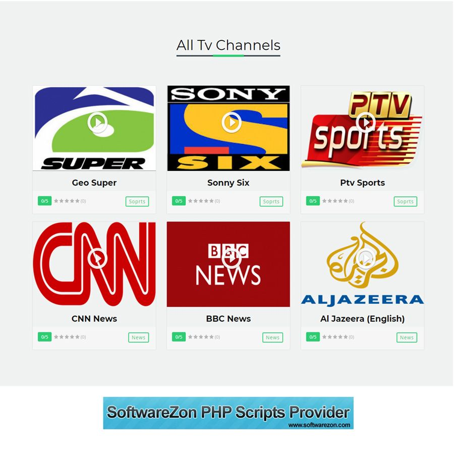 Live TV Channel Broadcasting Script PHP Screenshot 2