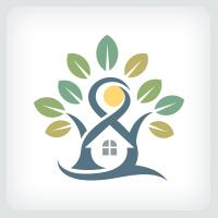 Tree and House Logo