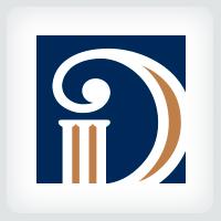 Letter D Pillar Logo