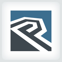 Letter P - Real Estate Logo