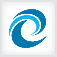 Letter E Wave Logo
