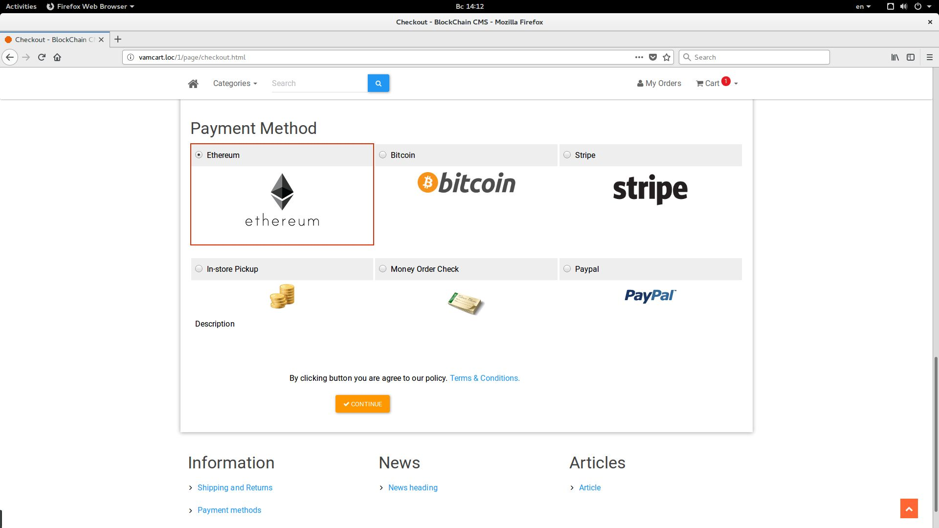 BlockChain CMS Shopping Cart Screenshot 4