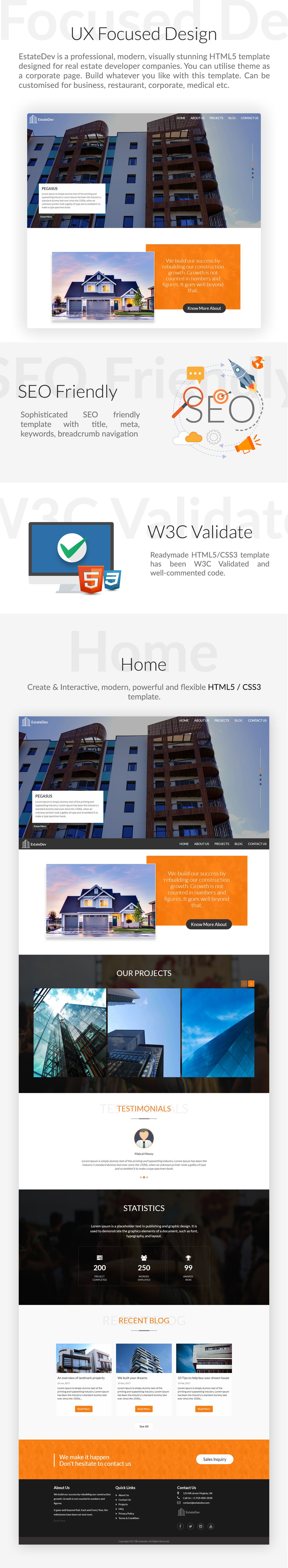 EstateDev - HTML Template for Real Estate Screenshot 1