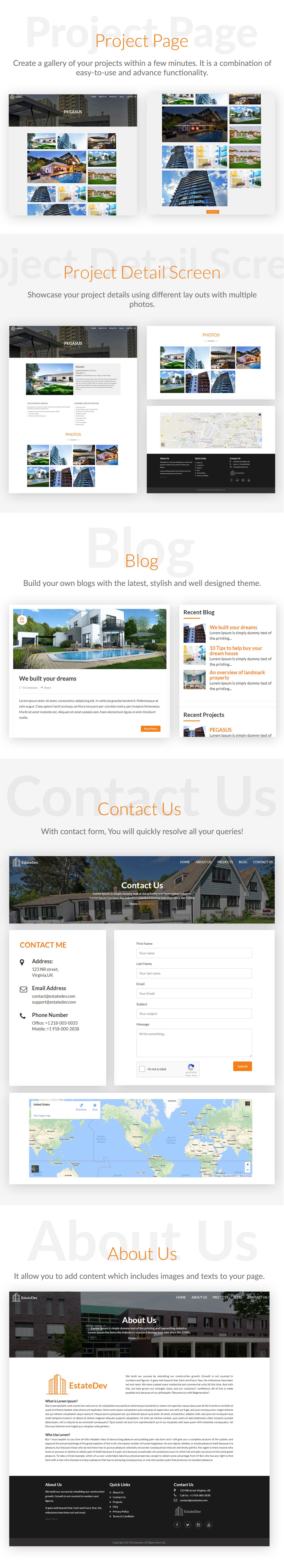 EstateDev - HTML Template for Real Estate Screenshot 2