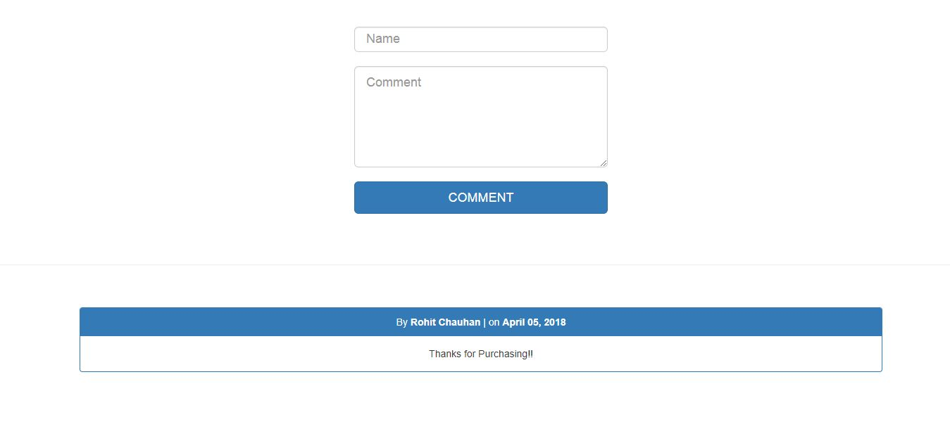 PHP Comment System Screenshot 1