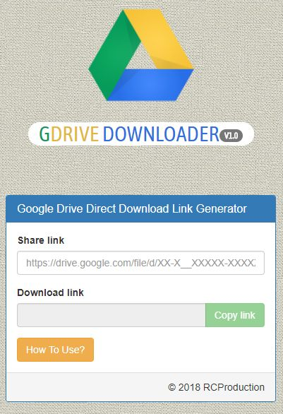 GDrive Downloader PHP Script Screenshot 1