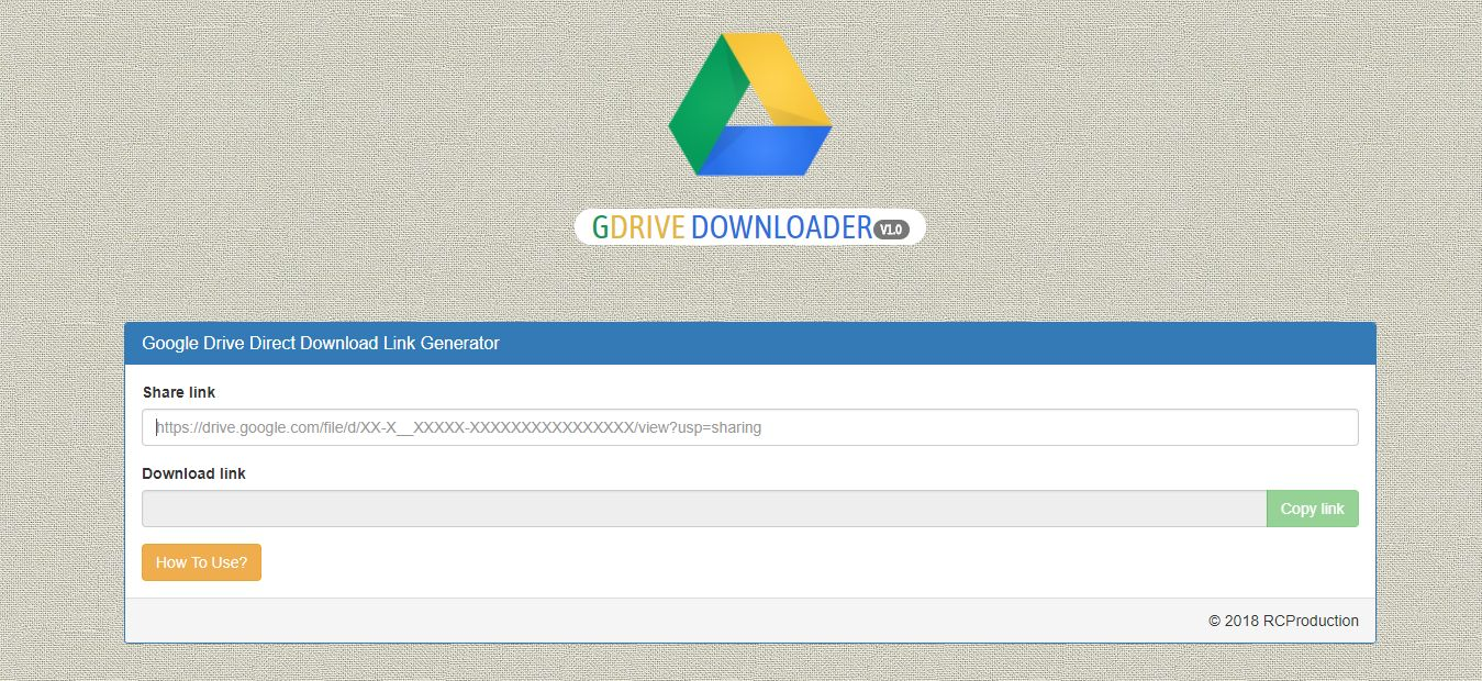 GDrive Downloader PHP Script Screenshot 2