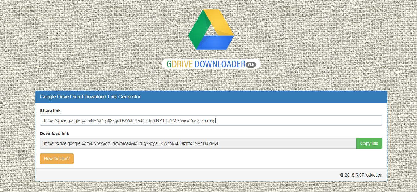 GDrive Downloader PHP Script Screenshot 3