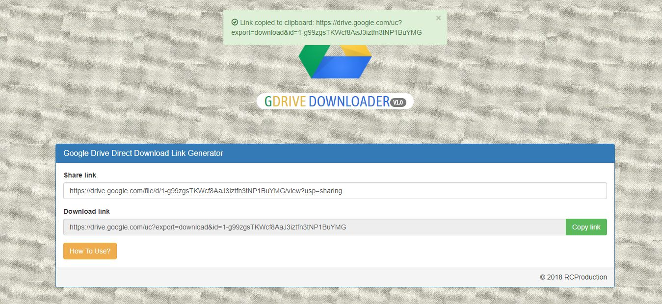 GDrive Downloader PHP Script Screenshot 4