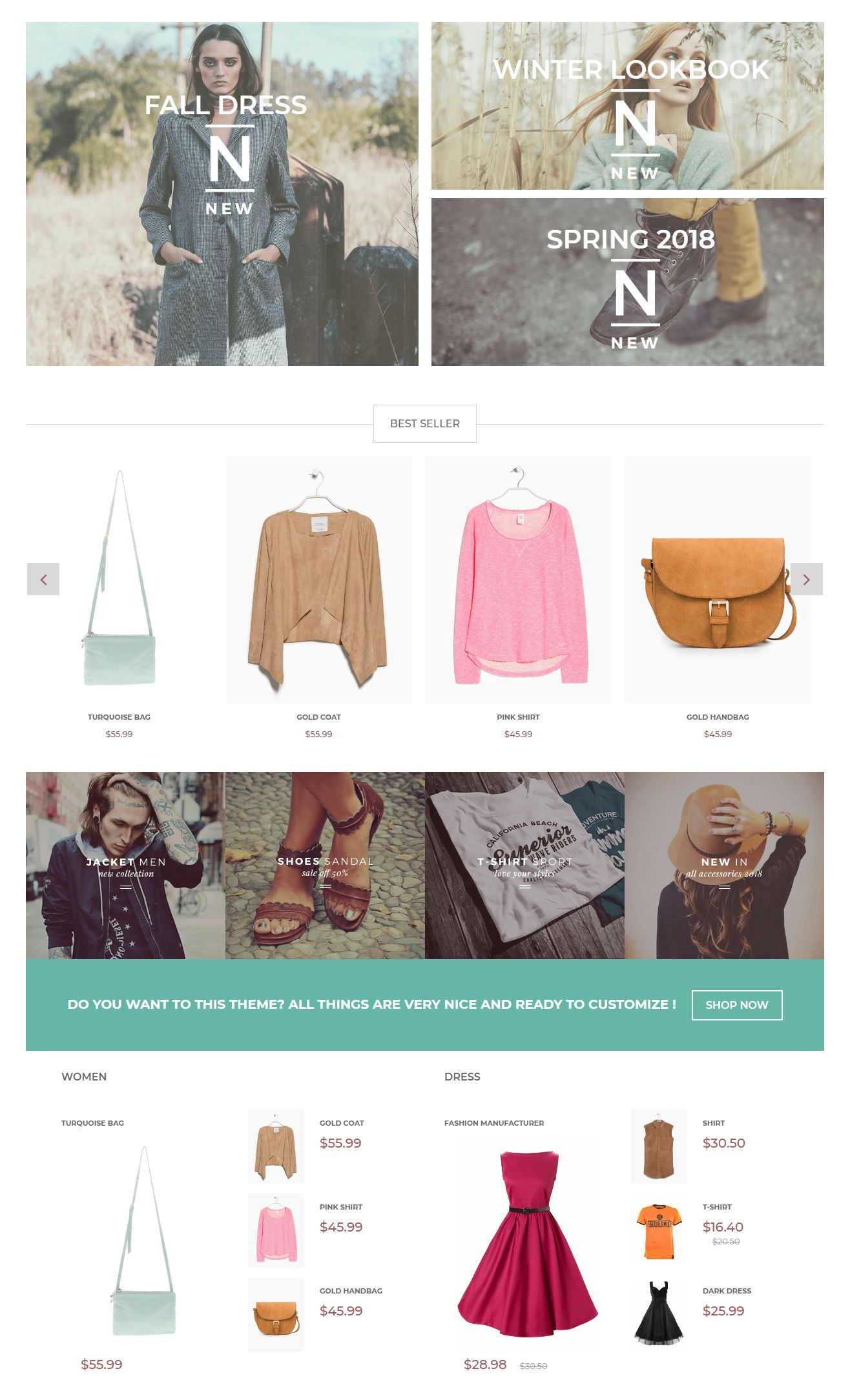 Fashionista Prestashop Theme Screenshot 2