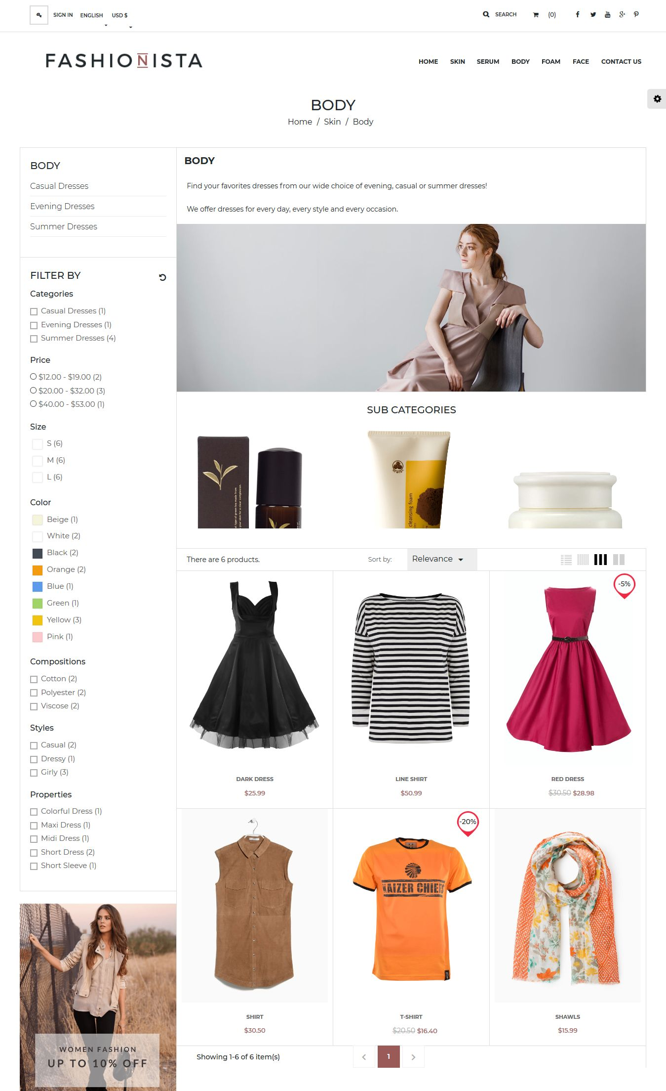 Fashionista Prestashop Theme Screenshot 4