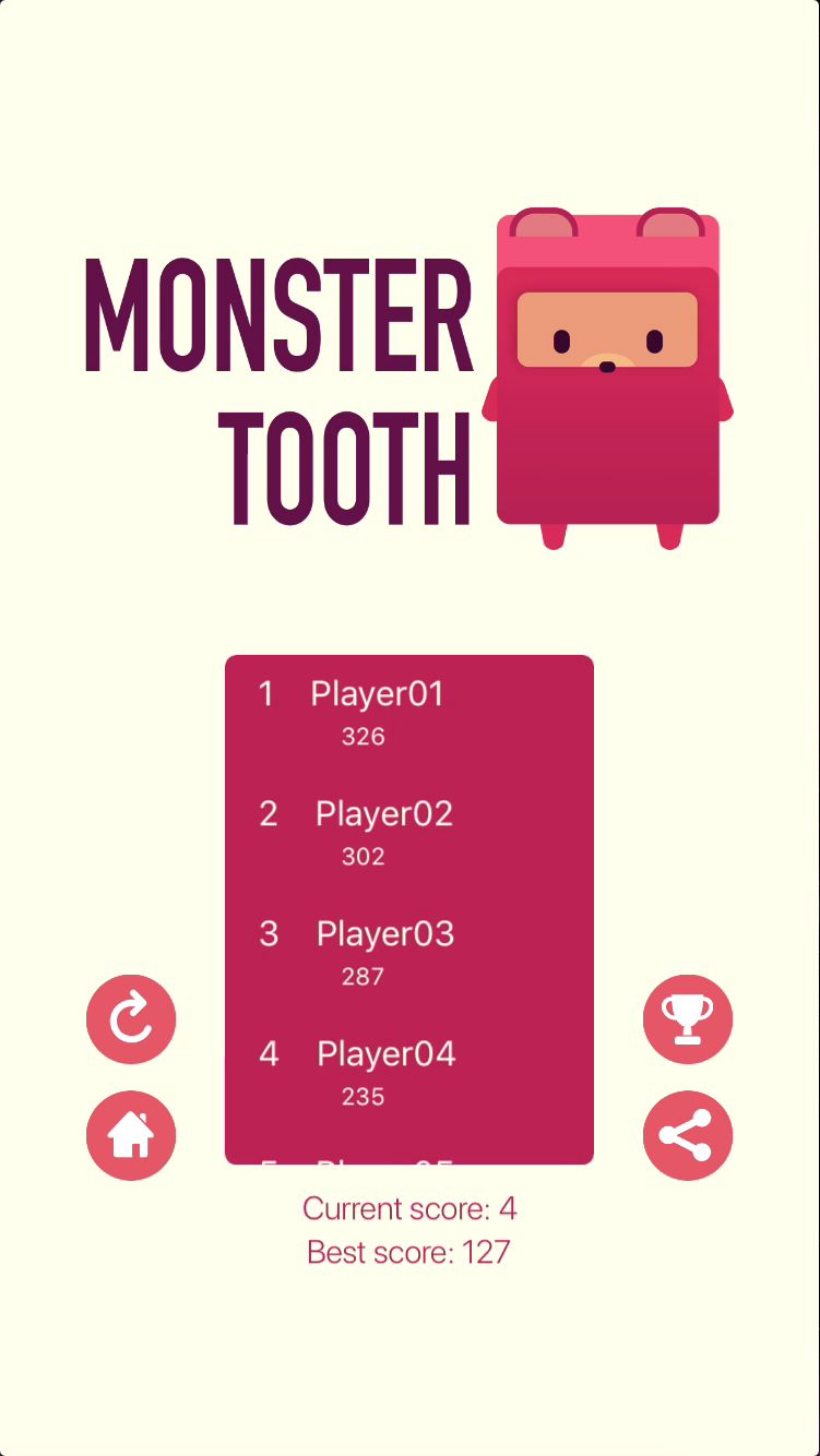 Monster Tooth iOS Source Code Screenshot 4