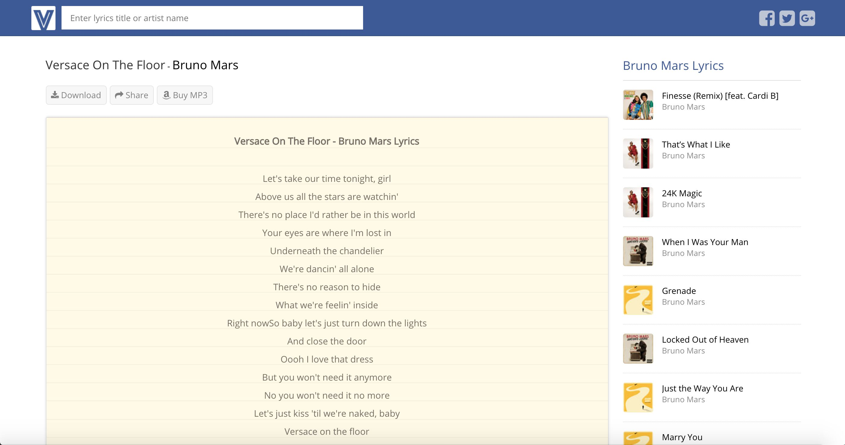 Lyrics Search Engine CMS PHP Screenshot 6
