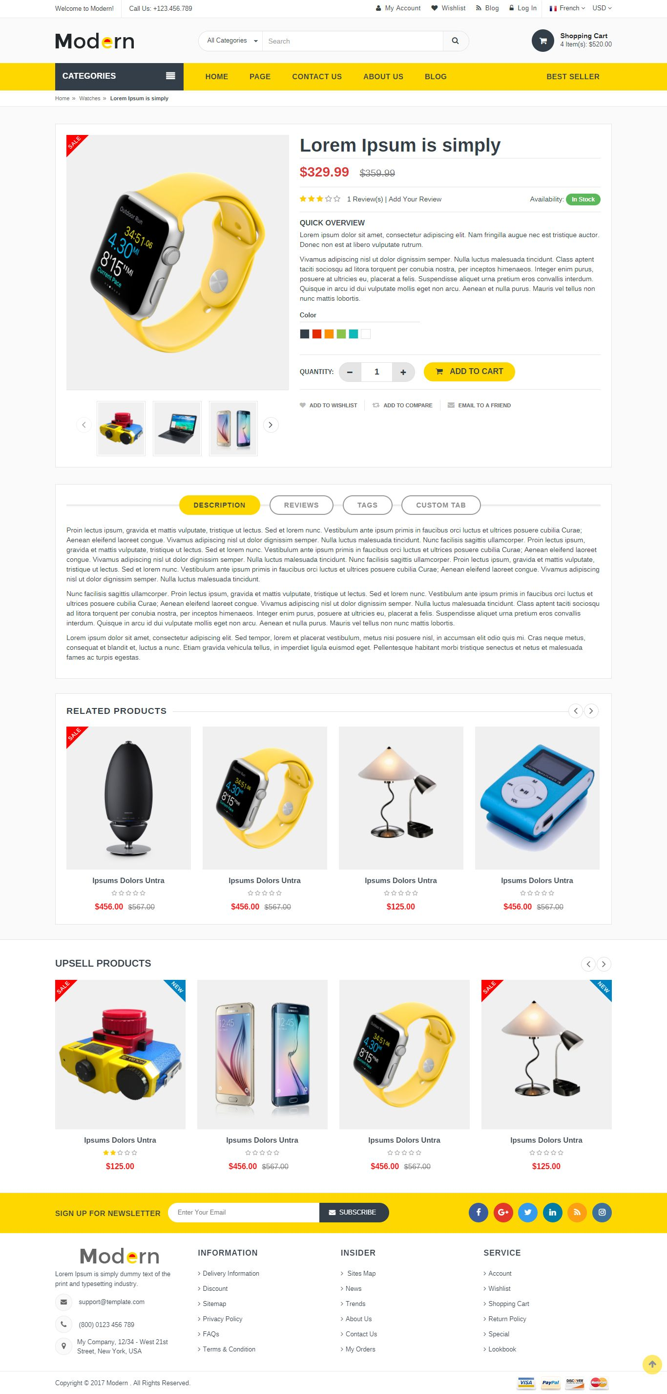 Modern - Multipurpose Website Template Screenshot 1