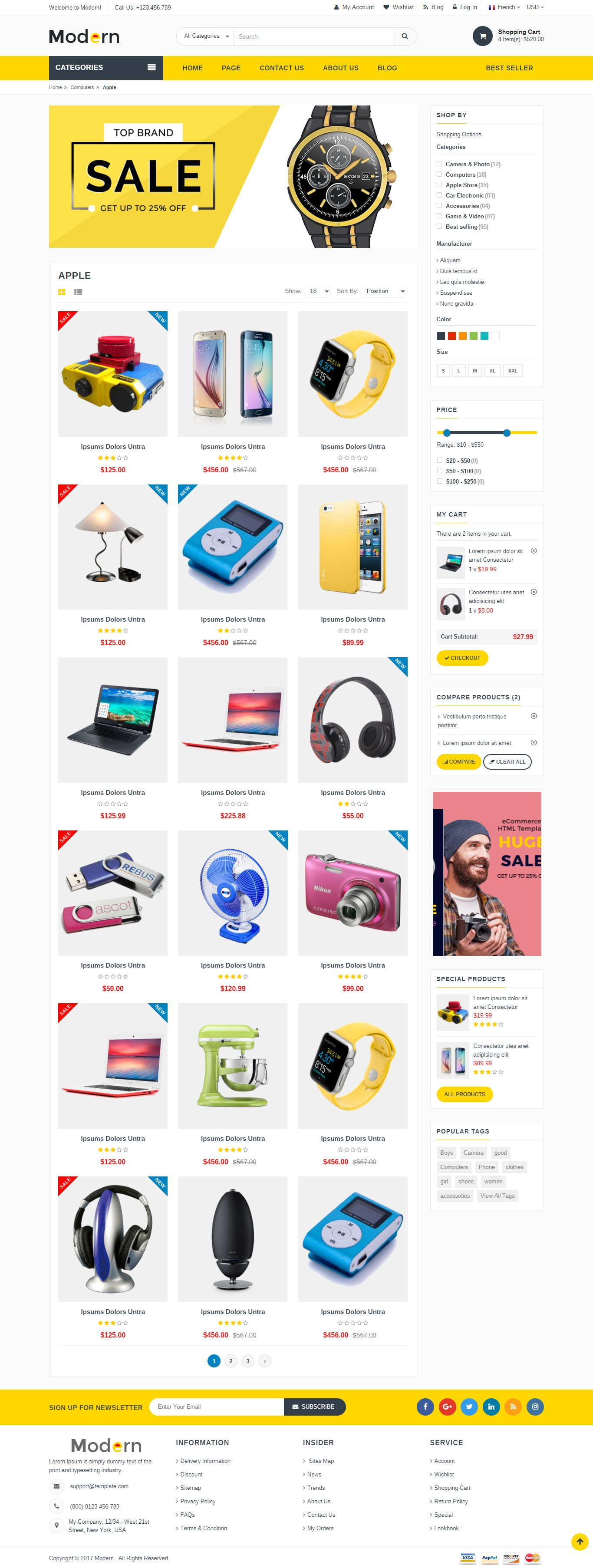 Modern - Multipurpose Website Template Screenshot 2