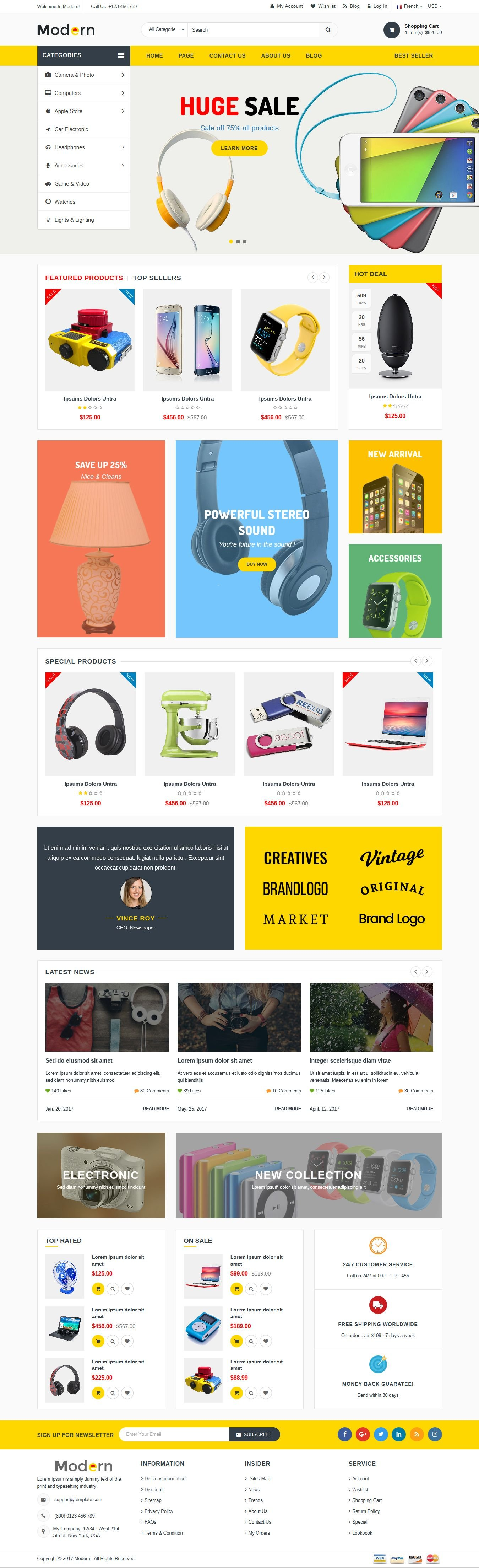 Modern - Multipurpose Website Template Screenshot 3