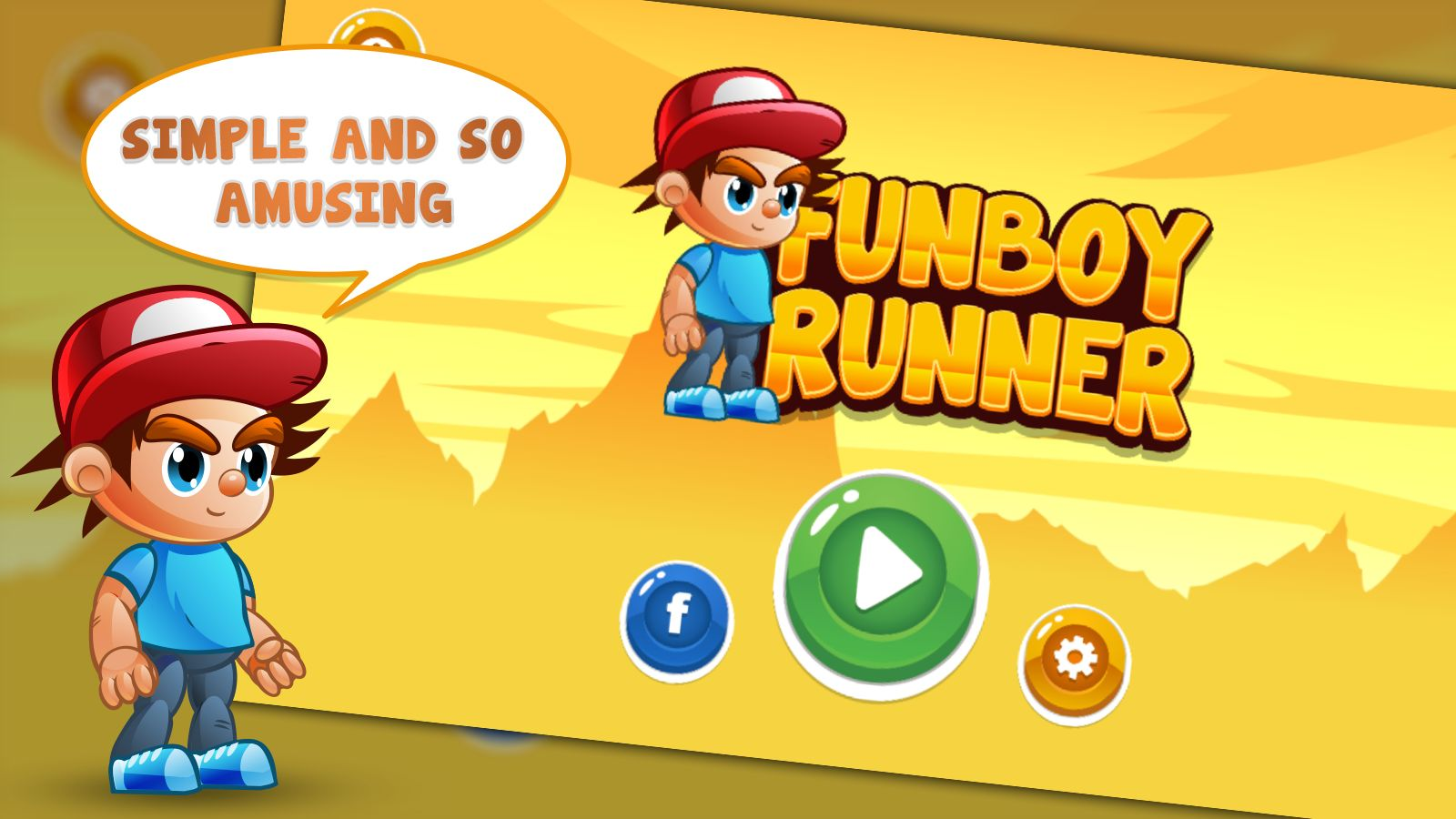 FunBoy Runner - Buildbox Template Screenshot 1