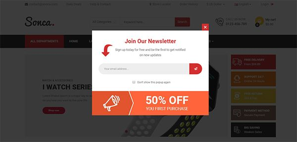 So Sonca - Responsive OpenCart 3 Theme Screenshot 3