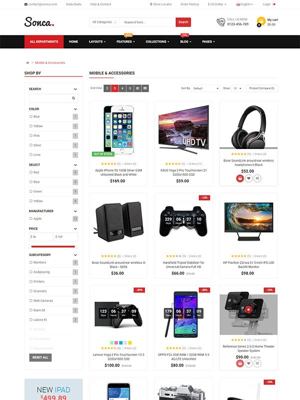 So Sonca - Responsive OpenCart 3 Theme Screenshot 4