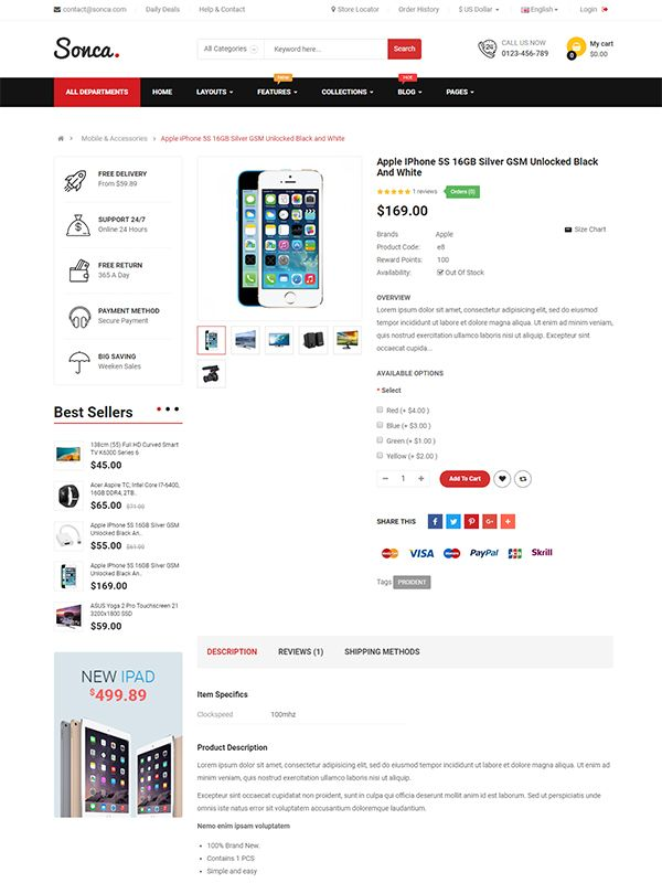 So Sonca - Responsive OpenCart 3 Theme Screenshot 5