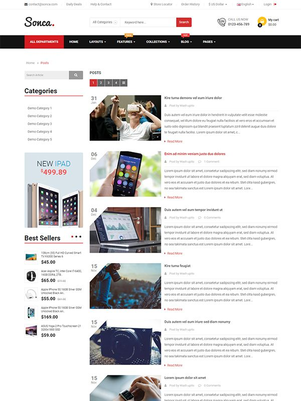 So Sonca - Responsive OpenCart 3 Theme Screenshot 6