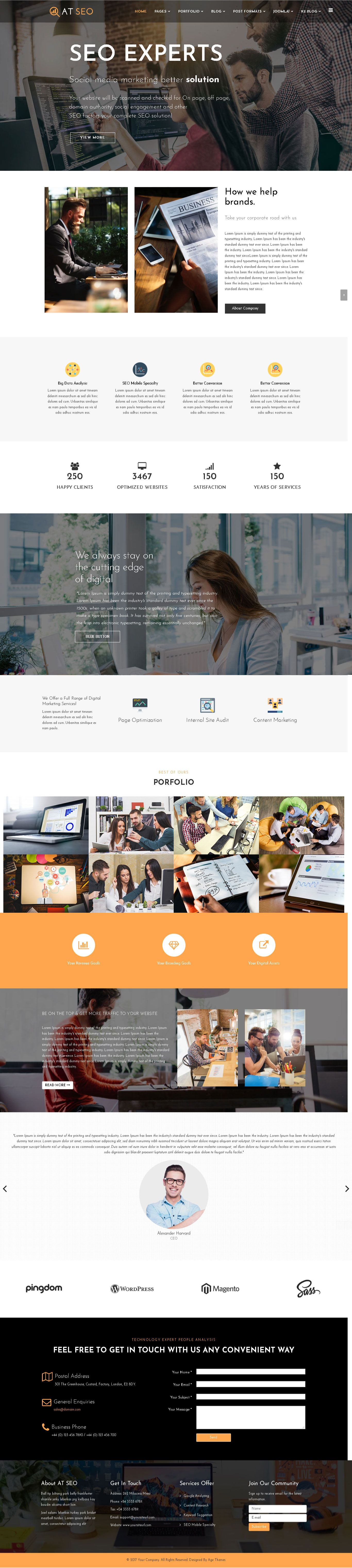 AT SEO – Responsive Marketing Joomla Template Screenshot 1