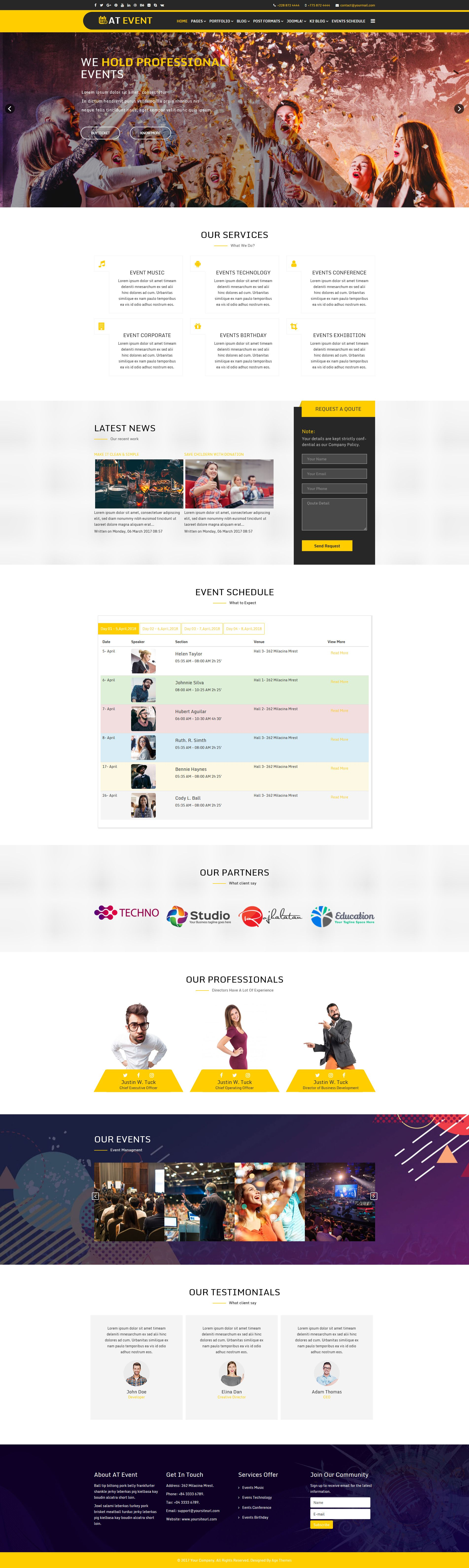 AT Event – Responsive Conference Joomla Template Screenshot 1