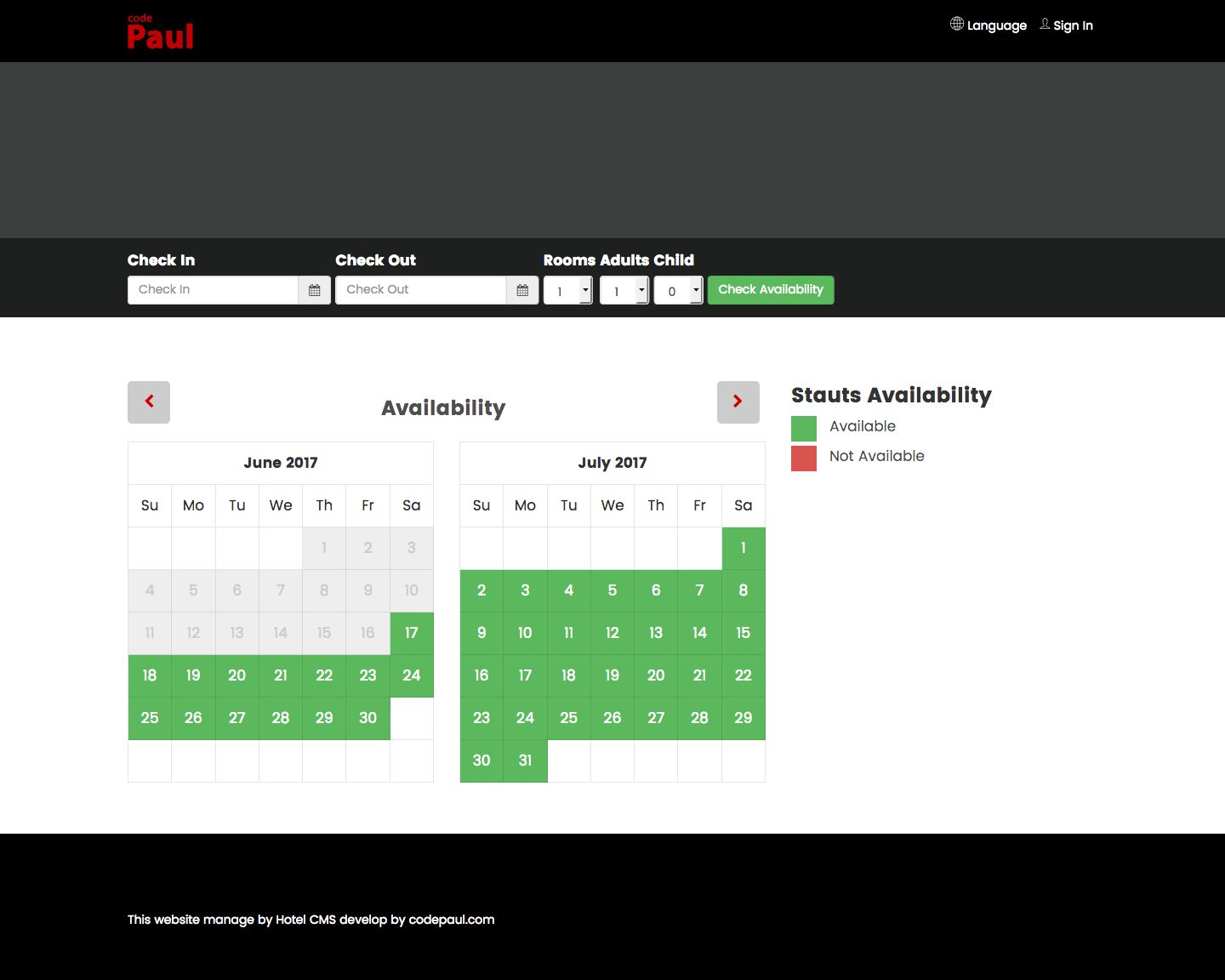 Hotel CMS With Booking Engine Screenshot 9
