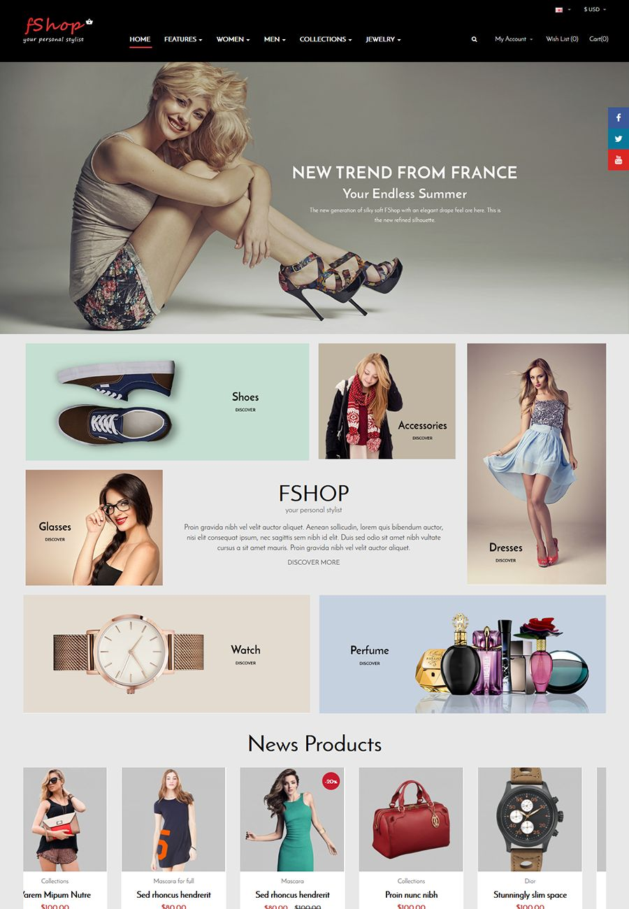 fShop - Multipurpose eCommerce OpenCart Theme Screenshot 1