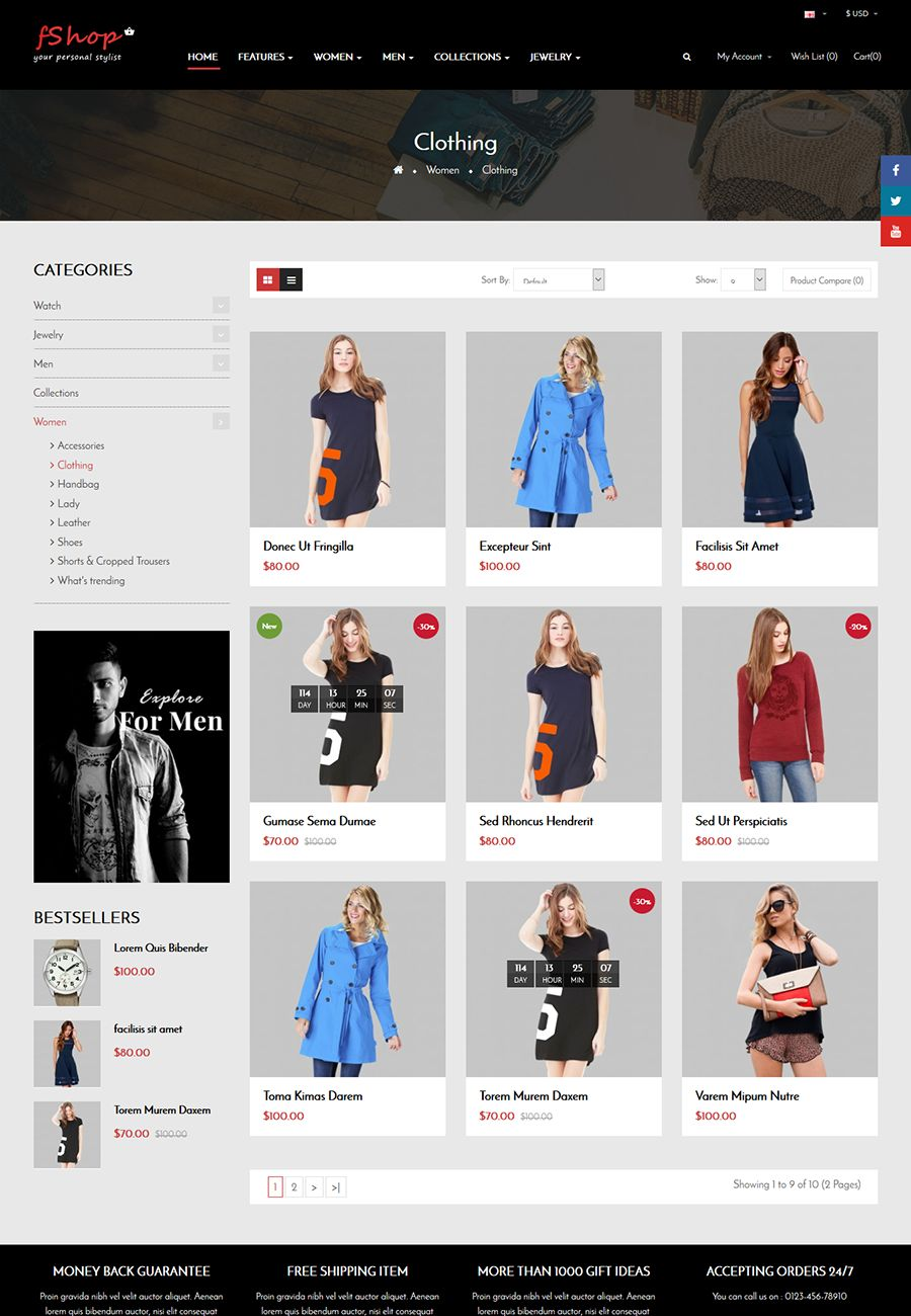 fShop - Multipurpose eCommerce OpenCart Theme Screenshot 2