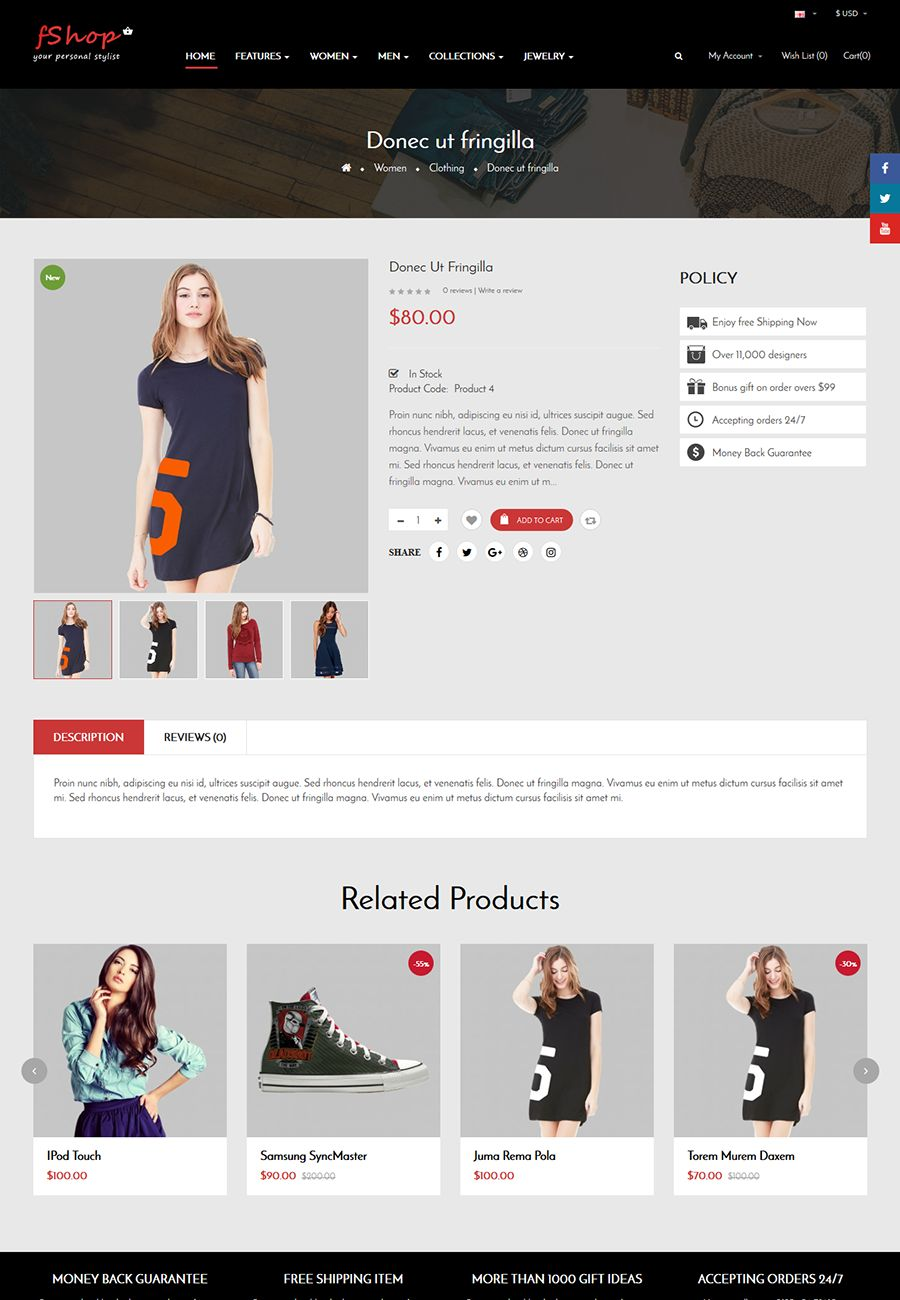 fShop - Multipurpose eCommerce OpenCart Theme Screenshot 4
