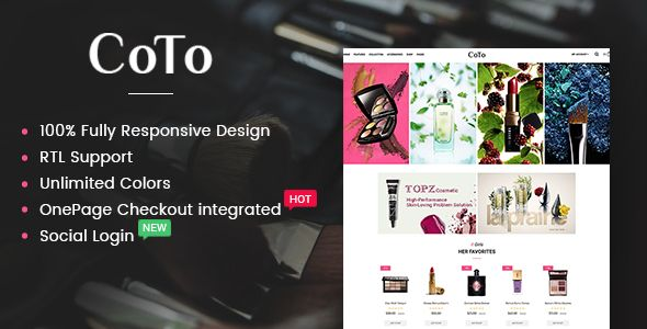 Coto - The Cosmetic eCommerce OpenCart Theme Screenshot 1
