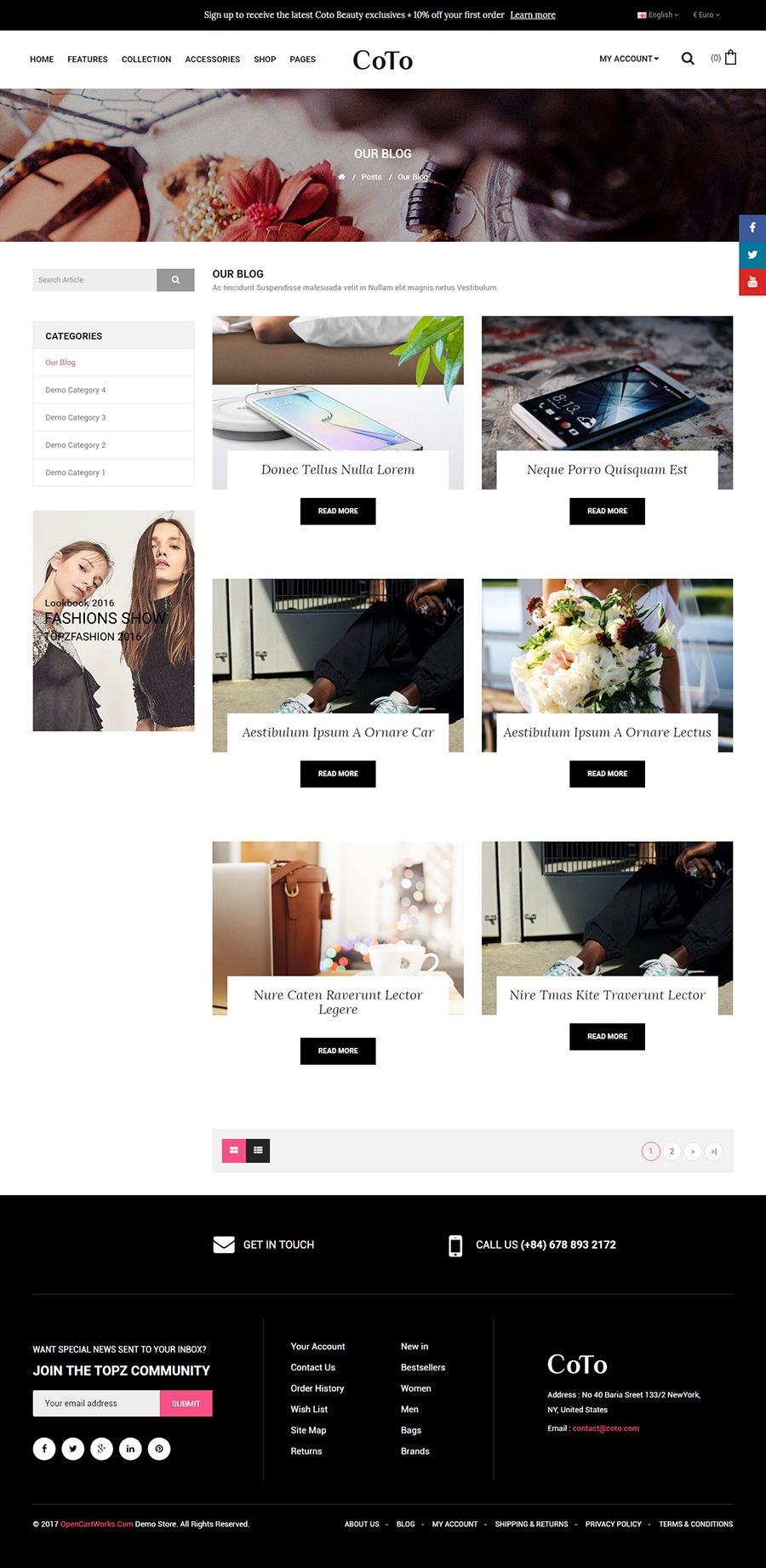 Coto - The Cosmetic eCommerce OpenCart Theme Screenshot 7