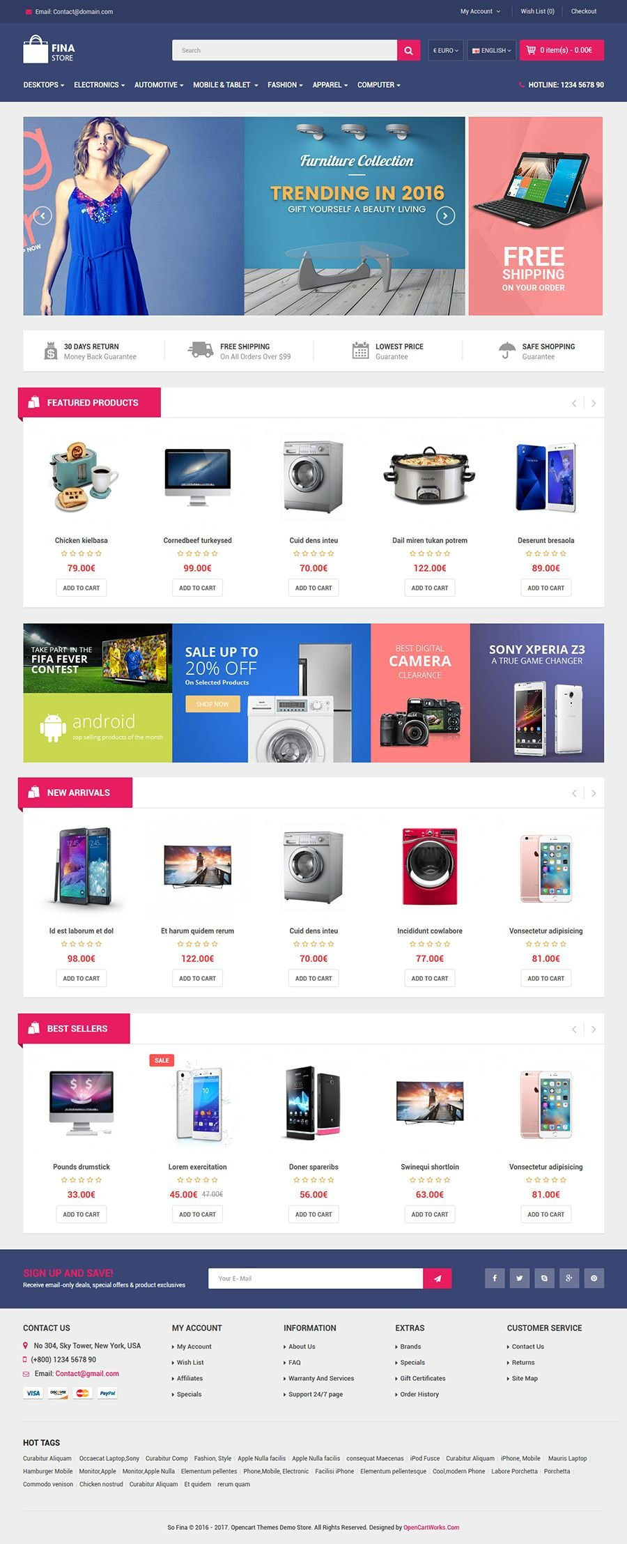 So Fina - Multipurpose eCommerce OpenCart Theme Screenshot 2