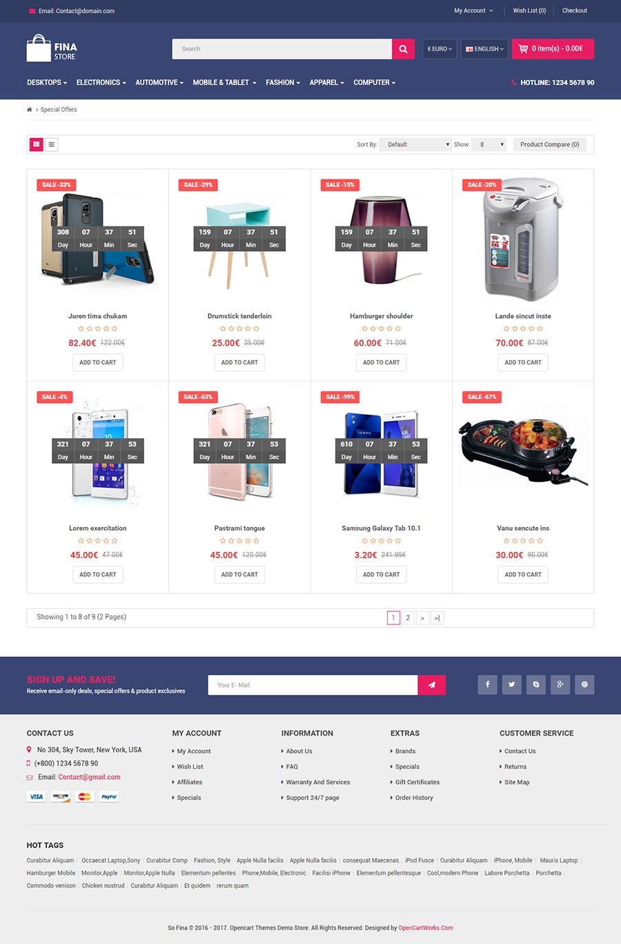 So Fina - Multipurpose eCommerce OpenCart Theme Screenshot 6
