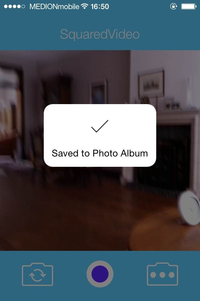 SquaredVideo - iOS Video Recording App Source Code Screenshot 2