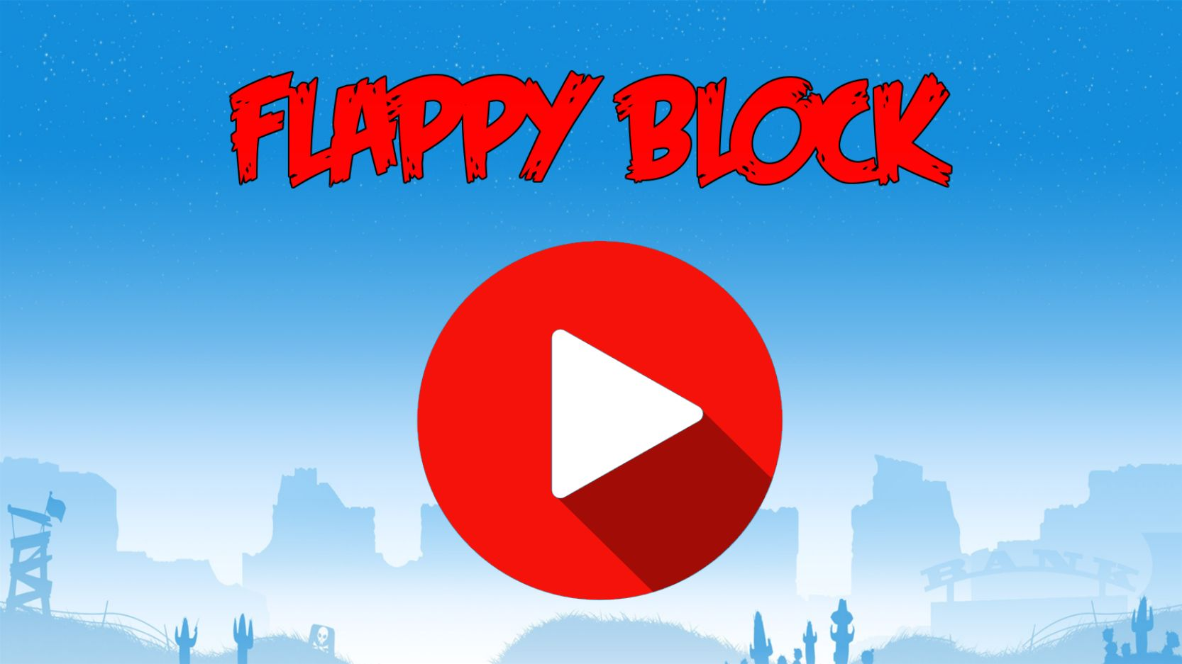 Flappy Block - HTML5 Game Construct 2 Screenshot 1