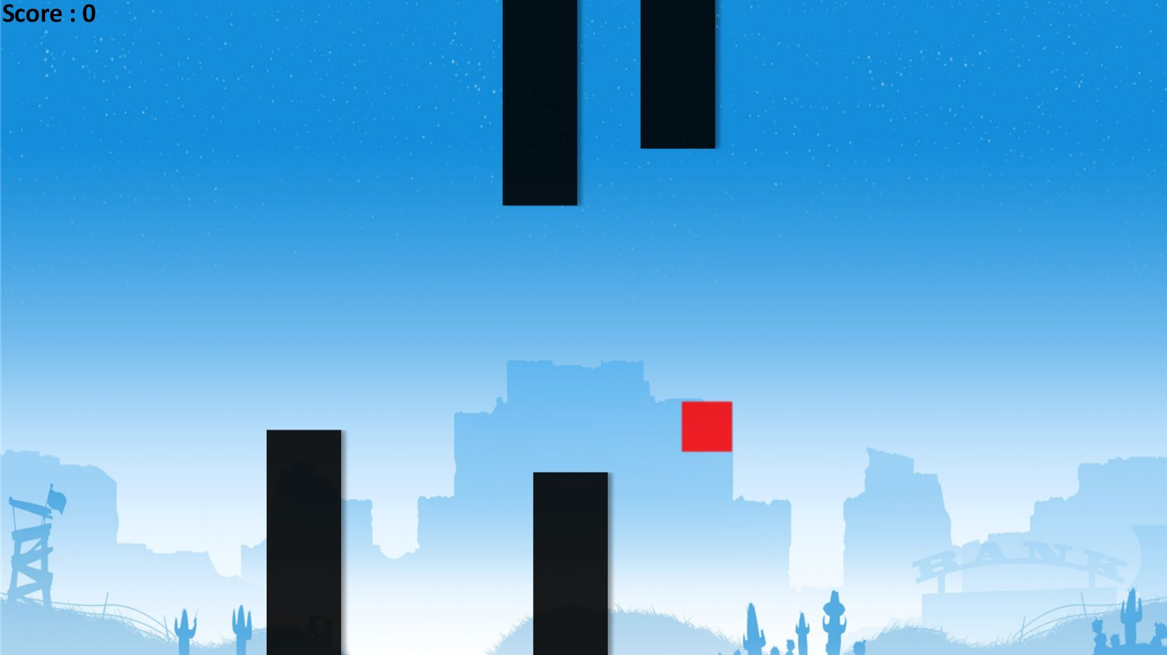 Flappy Block - HTML5 Game Construct 2 Screenshot 2