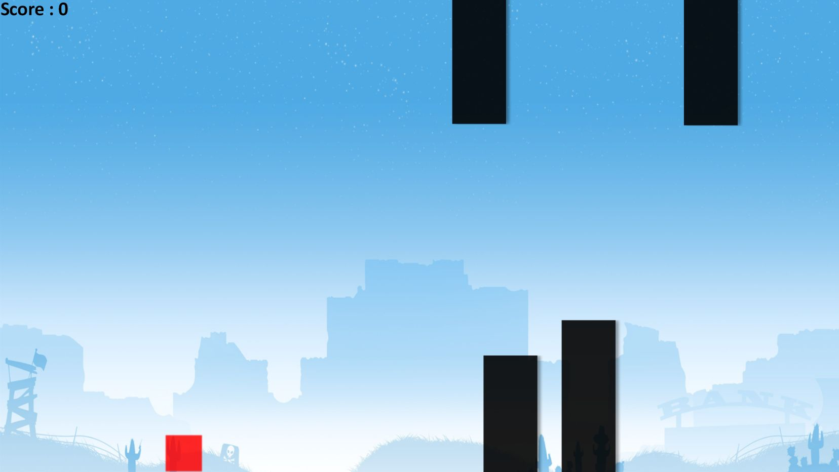 Flappy Block - HTML5 Game Construct 2 Screenshot 3
